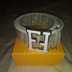 Fendi belt white brand new